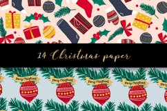 Christmas digital paper pattern Product Image 6
