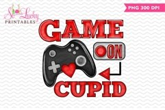 Game on Cupid Valentine printable sublimation design Product Image 1