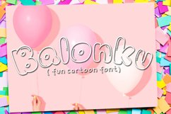 Balonku - Fun Cartoon Font Product Image 1