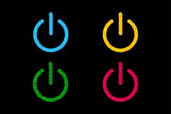 Power button icon set. Product Image 1