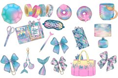 I washed up like this - mermaid planner clipart collection Product Image 2