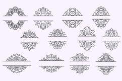 Vintage Split Frame Decal Bundle - 25 SVG cut files Product Image 4