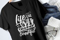 Life is like a cactus... - Vector Typography Design Product Image 6