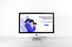 photography landing page flat design Product Image 2