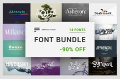 14 font bundle by Newface -90 off Product Image 1