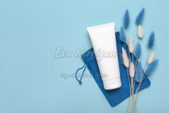 Tube container for cosmetic cream for hands, mockup Product Image 1