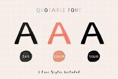 Quotable Font   SVG Color Font Product Image 4
