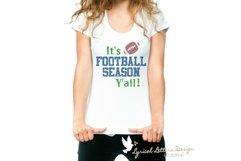 It's Football Season Y'all Football SVG DXF Cut File LL071B Product Image 2