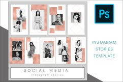 Rose Gold Instagram Stories Photoshop template Product Image 2