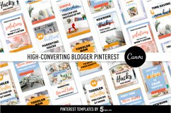 High- Converting Blogger Pinterest Pin Pack | Canva Product Image 4