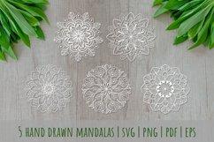 Mandalas set SVG, Boho stile cut file, Print and Cut Stikers Product Image 2