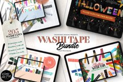 205 Washi Tape Bundle for Procreate Product Image 1