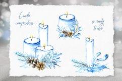 Watercolor winter clip arts. 40 elements, PNG 300dpi Product Image 5