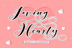 Loving Hearty - A Beauty Script Fonts Product Image 1