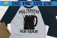 Mas Cerveza Por Favor - Grunge - SVG PNG EPS DXF Product Image 1