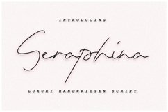 Seraphina Script Font - Bold&Regular Product Image 1