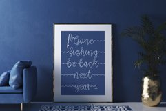 Gone Fishing - a fishing line font Product Image 5