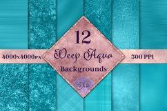 Deep Aqua Backgrounds - 12 Image Textures Set Product Image 1