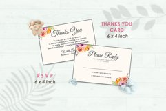 Wedding Invitation Set #5 Watercolor Floral Flower Style Product Image 4