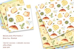 Cheese and Snacks. Watercolor clipart, patterns. JPG, PNG Product Image 3