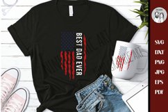 Best dad ever USA flag Grunge SVG Dxf Png Jpg, CutFile, Product Image 2