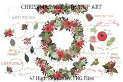 Christmas Wreath Clip Art Product Image 1