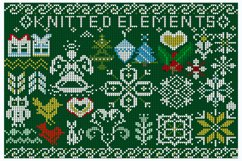 Knitted elements, symbols and Christmas decorations Product Image 3