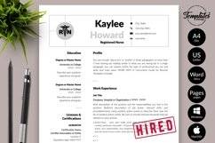 Nurse Resume CV Template for Word & Pages Kaylee Howard Product Image 1