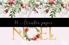 Winter digital paper pattern Product Image 3