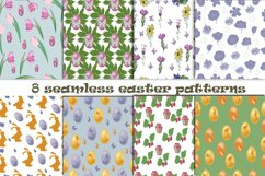8 Seamless Easter Patterns Product Image 1