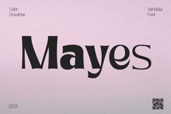 Mayes - Variable Font Product Image 1