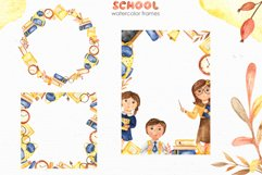 SCHOOL. Watercolor collection. Clipart, cards, patterns Product Image 3