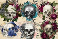 Floral Skull Graphic Elements Product Image 2