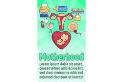 Motherhood concept banner, cartoon style Product Image 1