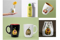 Watercolor collection Eye fruits Product Image 5