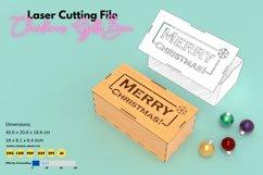 Christmas Box- laser cutting file Product Image 1