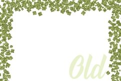 St Patricks Day Glitter Borders Digital Paper Product Image 3