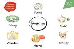 Watercolor dumplings set and Bonus! Product Image 2