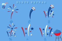 Fireworks - 4th of July Font & Bonus Star Studded Font Product Image 5