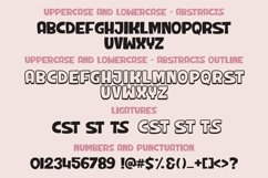 Web Font Abstracts - a chunky handwritten font   Two styles Product Image 3
