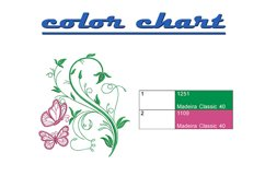 Butterfly and floral machine embroidery designs Product Image 2