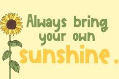 Sunflower Garden - A Cute Font Product Image 3