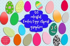 50 Colorful Easter Eggs Clipart-Cute Easter Eggs Clipart Product Image 2