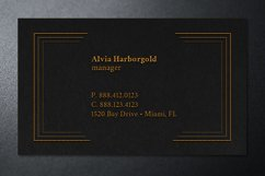 Jewelry Store Business Card Photoshop Template Product Image 4
