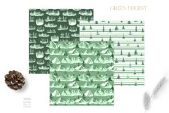Watercolor Green Fores Digital Papers Product Image 3