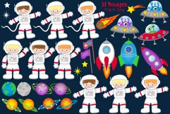 Space clipart, Space graphics & illustrations, Astronauts Product Image 2