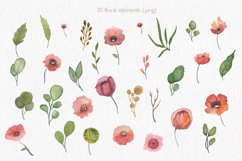 Spring florals. Watercolor floral collection. Product Image 3