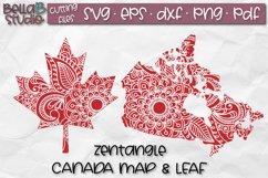 Zentangle SVG, Canada SVG, Canadian SVG, Canada Map, Leaf Product Image 1