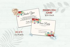 Wedding Invitation Set #4 Watercolor Floral Flower Style Product Image 4