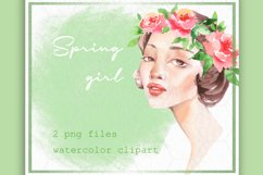 Flower girl clipart. Watercolor Product Image 1